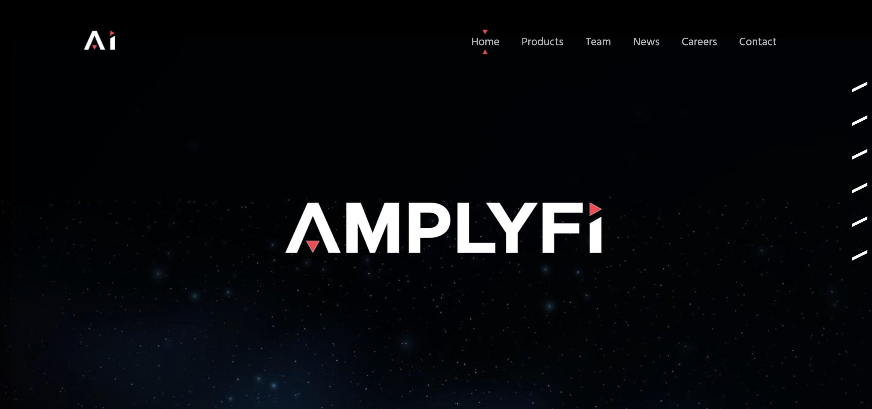 Amplyfi AI company website homepage