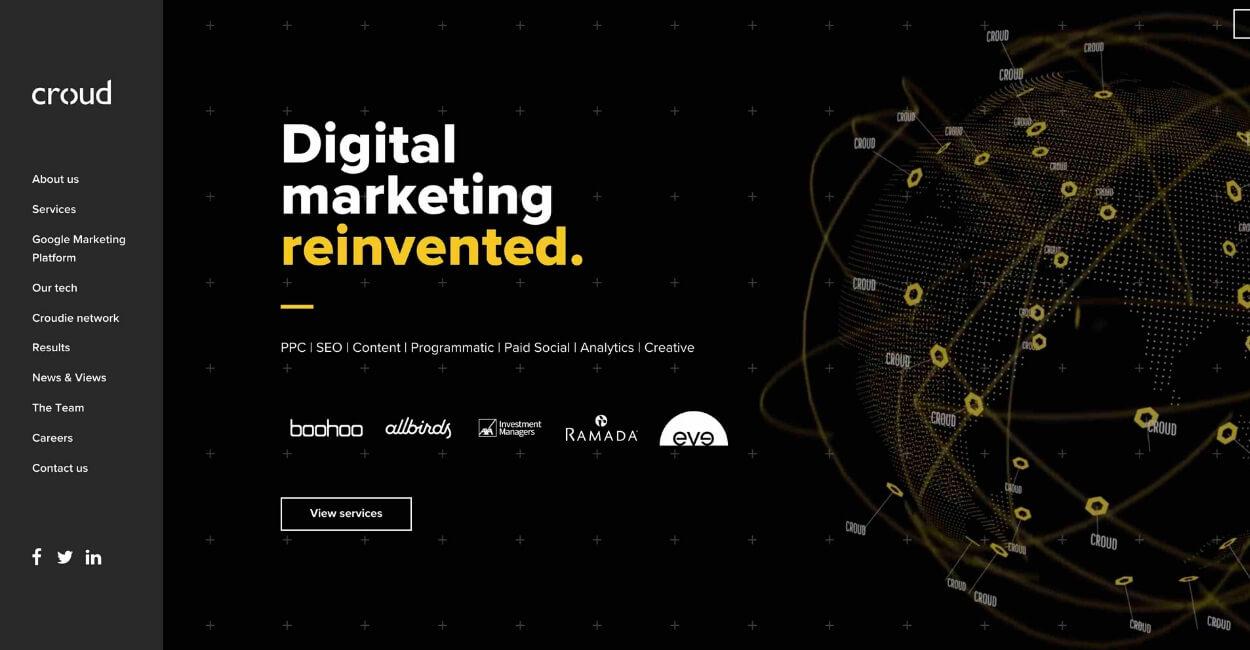 Croud Marketing Agency Website