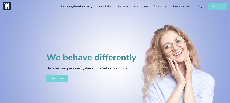 DPL AI company website homepage