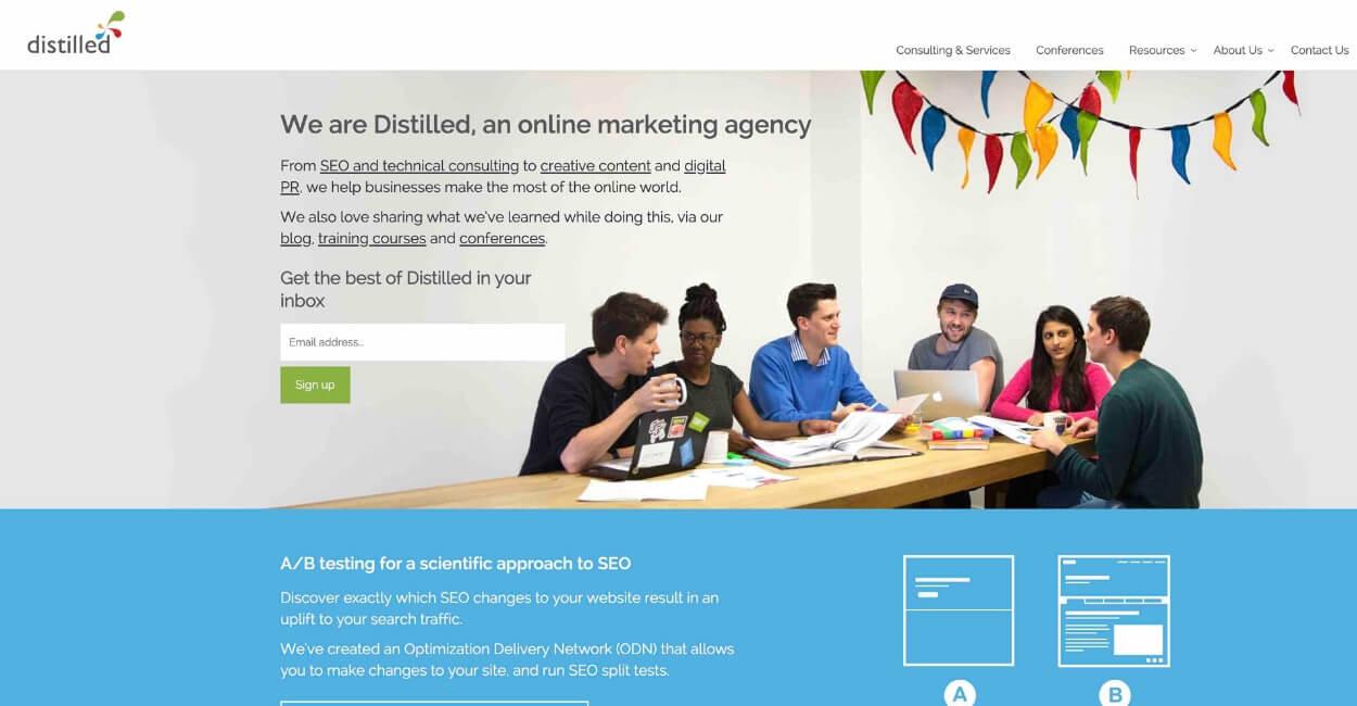 Distilled Marketing Agency Website