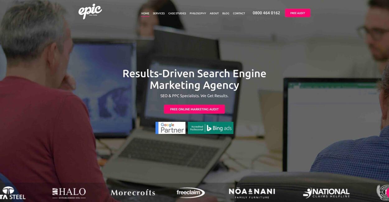 Epic New Media Marketing Agency Website