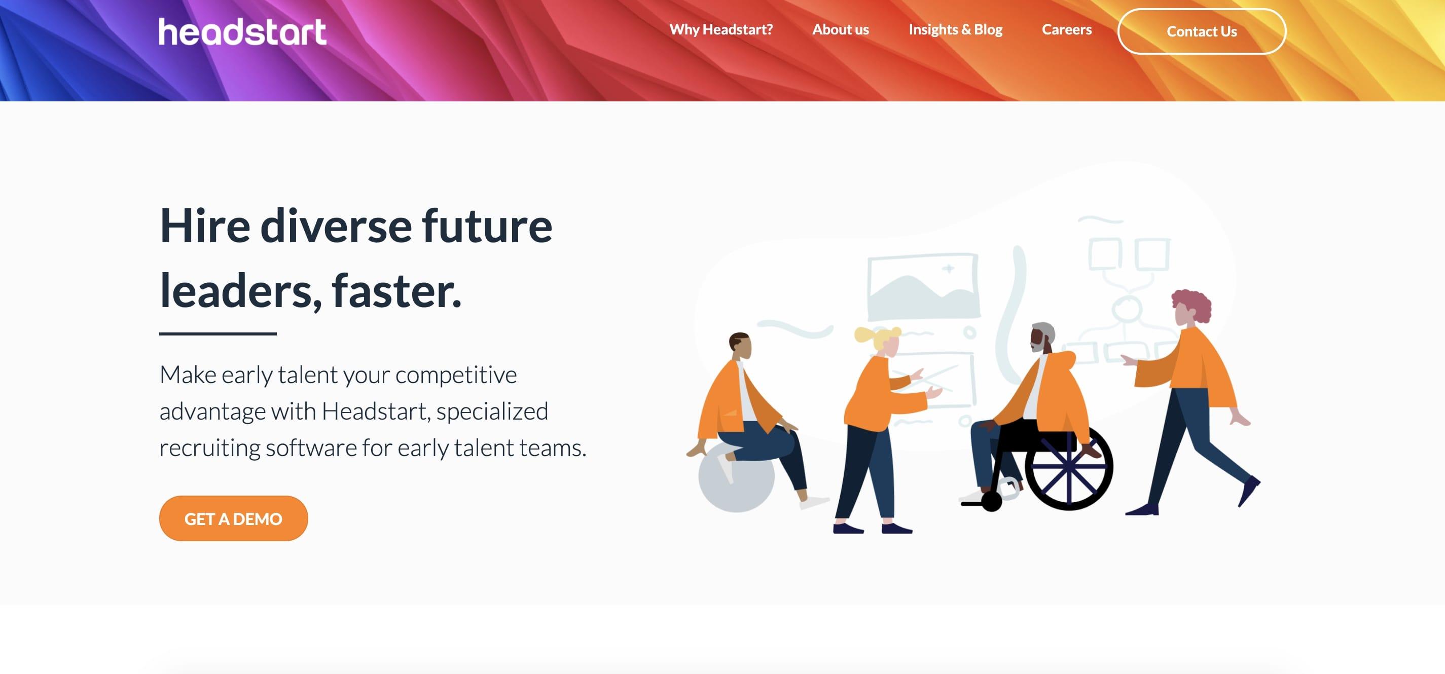 Headstart AI company website homepage