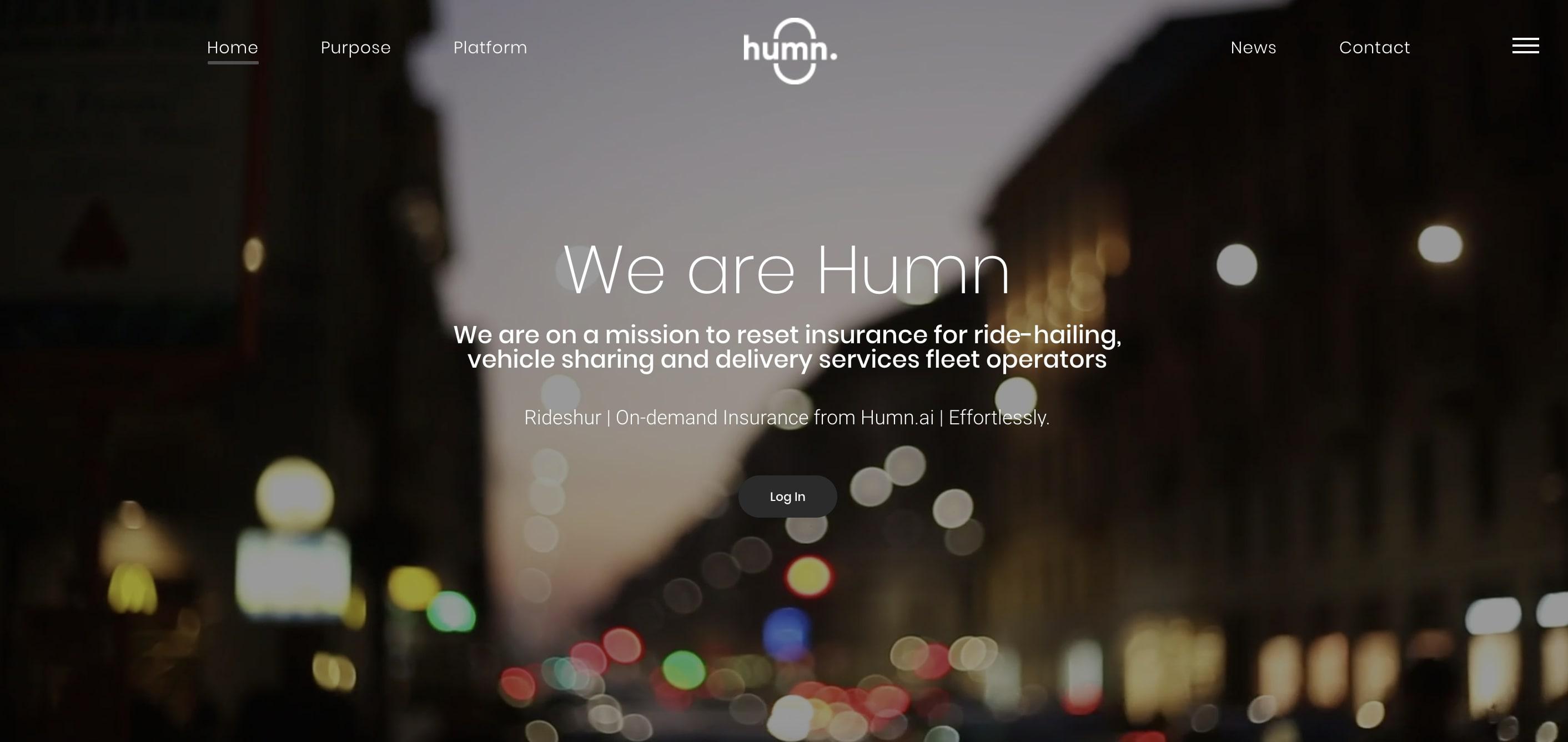 Humn AI company website homepage