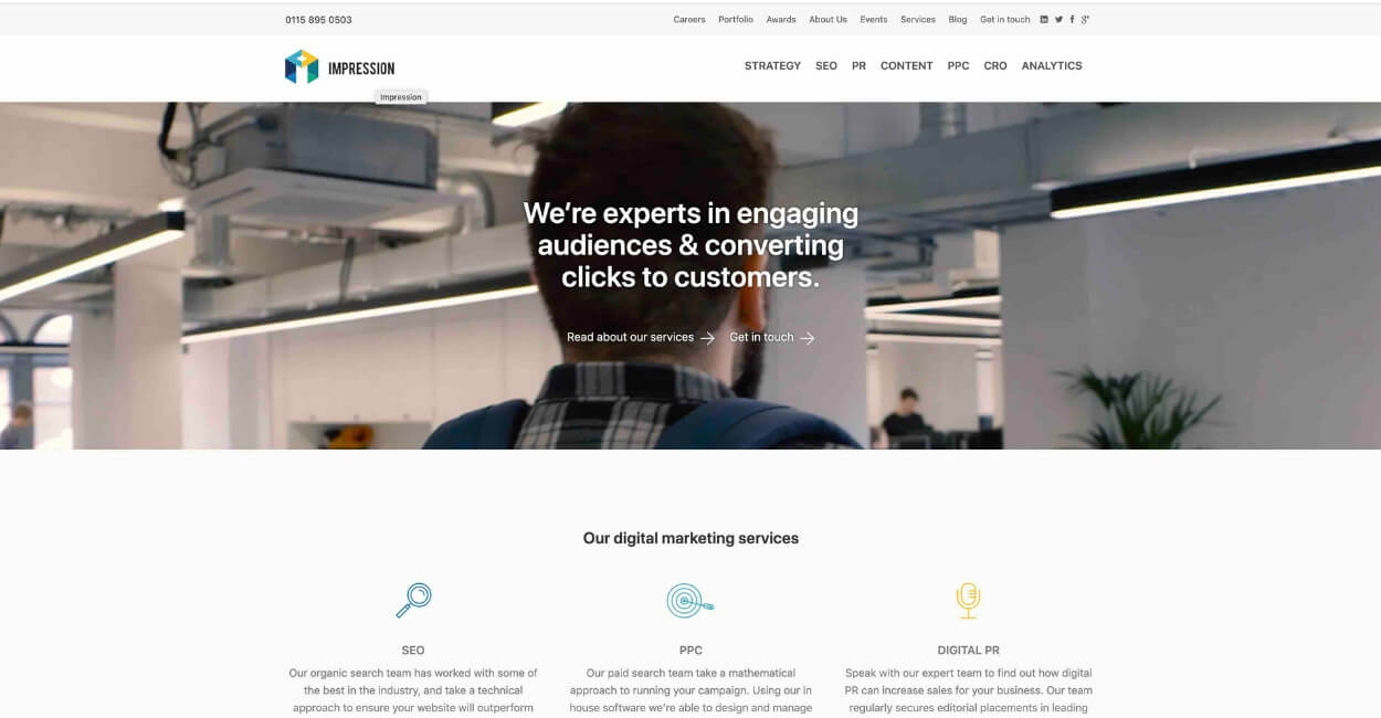 Impression Marketing Agency Website