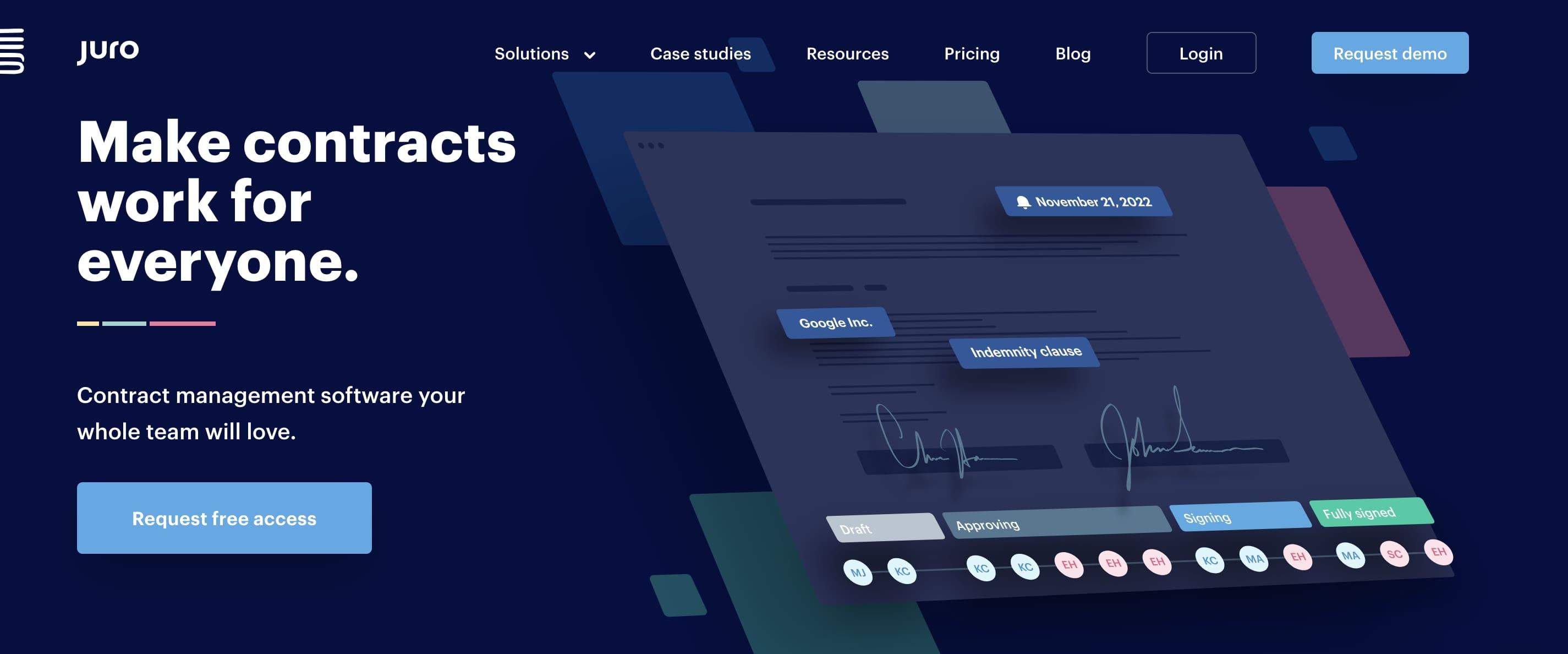 Juro AI company website homepage