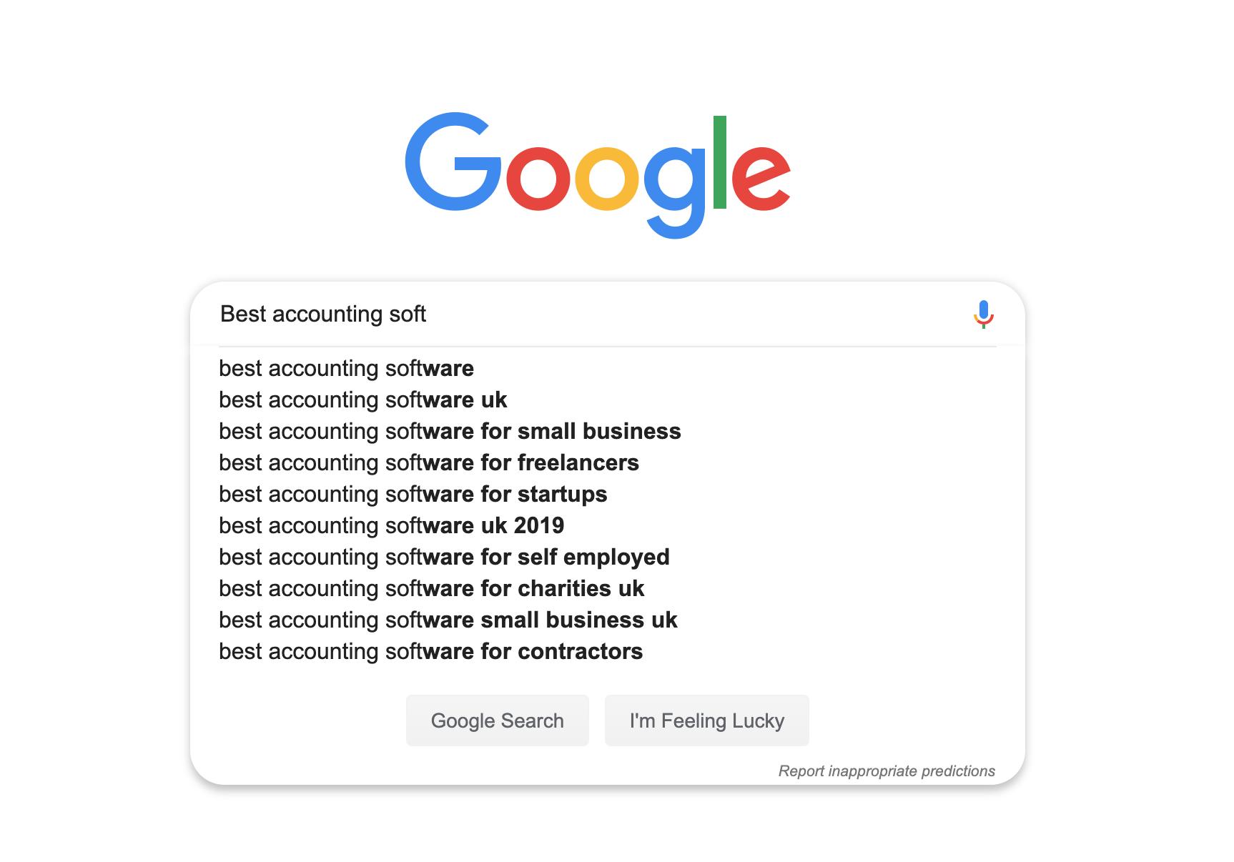 Organic search ranking