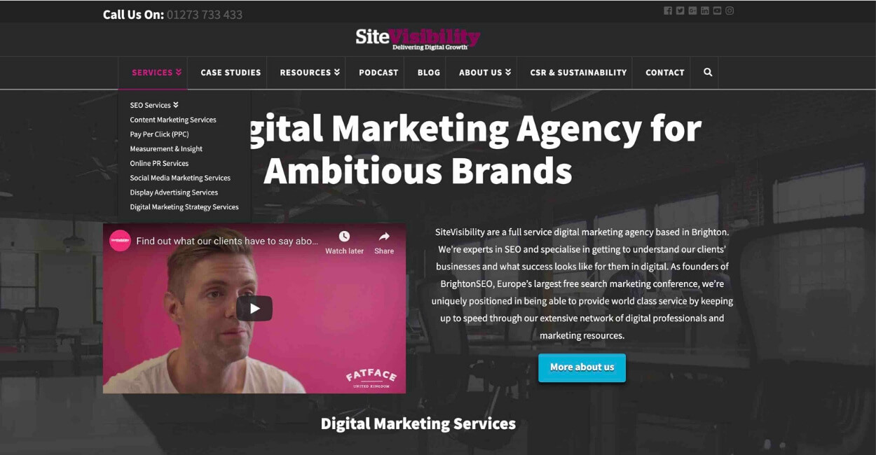Site Visibility Marketing Agency Website