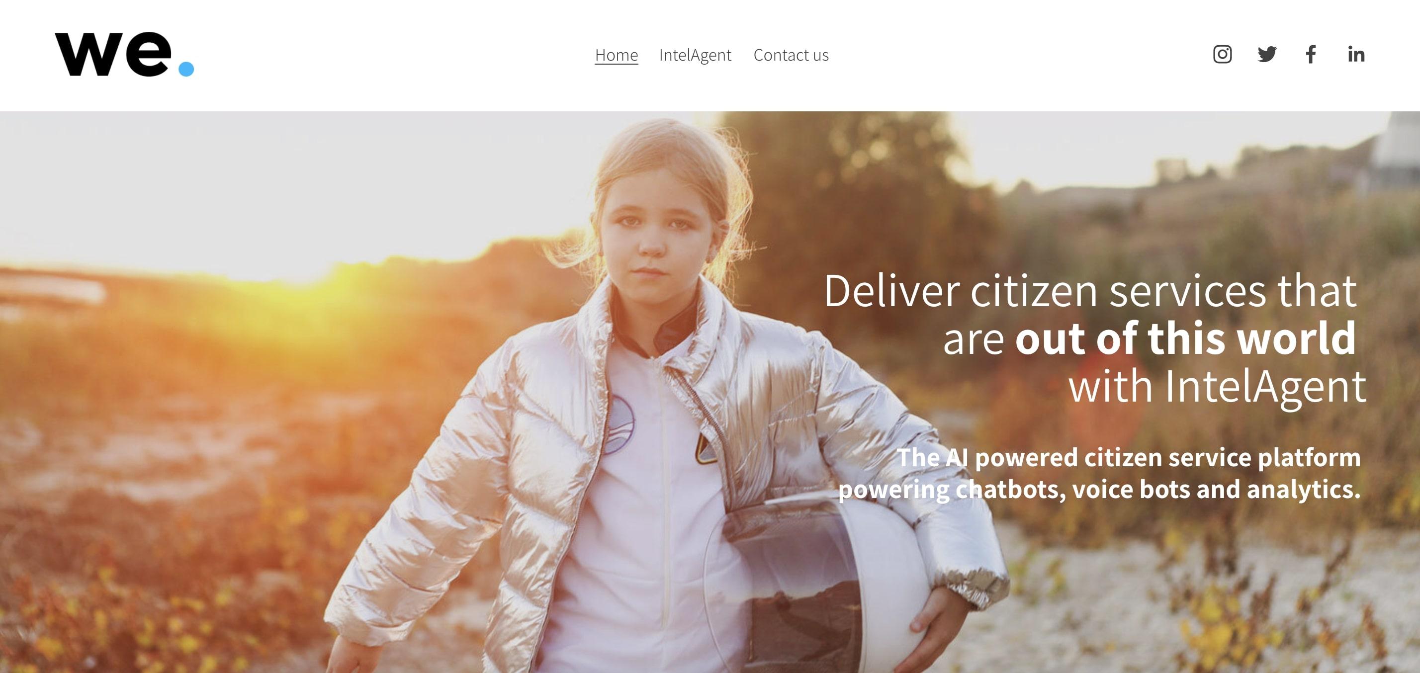 We Build Bots AI company website homepage